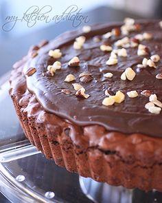 Hazelnut Brownie Tart with Nutella Ganache