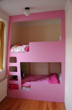 bunk beds - somebody's so modern and cool in a small space!