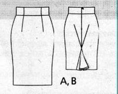 Выкройки юбки карандаш 38 размер