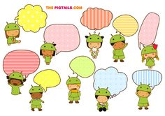 FREE printable tags /  talk bubbles | Pigtails by Jazmin Cruz