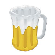 Store your beers in this Beer Mug Inflatable Cooler. This Beer Mug Cooler holds approximately forty-eight 12 ounce cans. An #Oktoberfest Favorite.