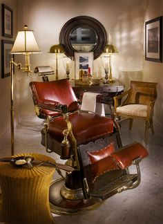 """vintage barber chair - its on my """"must own one day"""" list!"""