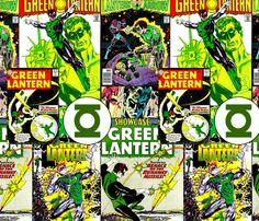 Green Lantern fabric by retropopsugar on Spoonflower - custom fabric