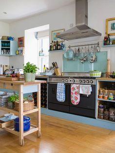 stove, kitchen carts, oven, colorful kitchens, small spaces, open kitchens, kitchen islands, kitchen designs, white kitchens