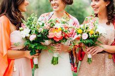 peony + wildflower bouquet
