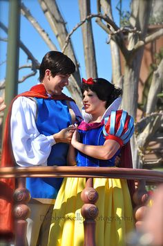 Snow White & Prince Charming....at Disney.