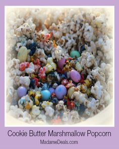 Cookie Butter Marshmallow Popcorn #inspireothers