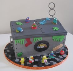 Trash pack Dumpster Cake by The Tinderbox Cake Decorators, via Flickr