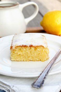 lemon blondies with lemon glaze...