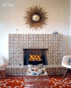 tiled fireplaces look awesome