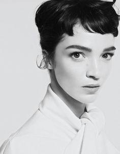 "Mariacarla Boscono Wears Christian Dior in the Audrey Hepburn Inspired Editorial By Cuneyt Akeroglu For Vogue Turkey October 2013 ""Zarafet"""