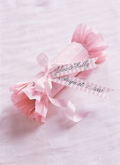 Tutorial~ pink paper cracker (filled with a gift or candies) for party favors, etc. So cute.