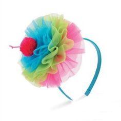Chiffon Cupcake Headband