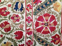 detail of a 19th century Suzani piece