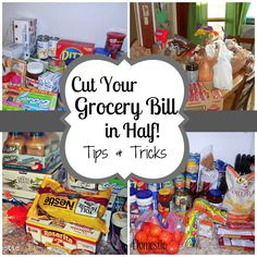 Cut your grocery bill in half! Good blog, once a month shopping! All homemade cooking.