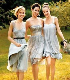 Vestidos para las damas de la boda