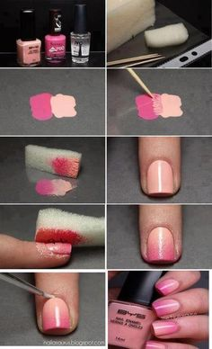 Ombre nails how-to