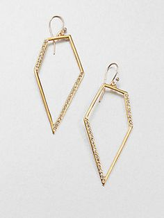 Alexis Bittar Pavé Kite Drop Earrings