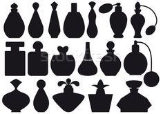 Stock photo: perfume bottles, vector