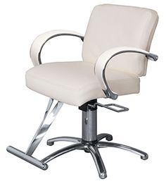Kaemark Sophia Styling Chair with Metal Arms