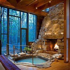 Beautiful hot tub room!
