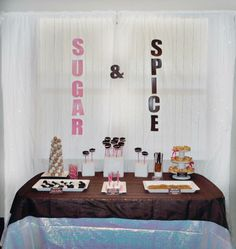 what other 2 words would work? - Sugar & Spice Joint Birthday Parties