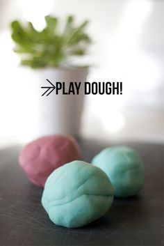 make play dough!