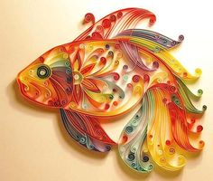 Colorful fish, unique quilling patterns and paper craft ideas