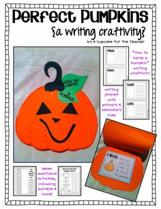 A Cupcake for the Teacher: Perfect Pumpkins {a Writing Craftivity}