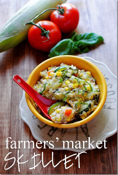 Quinoa with yummy veggies and feta!