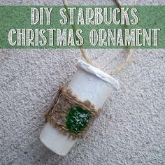 DIY Starbucks Christmas ornament