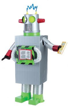 Who needs robots when you've got a READbot? Make him out of just about anything - or ask students to create their own!    Check out your Book Fair Chairperson Toolkit for more tips and tricks.