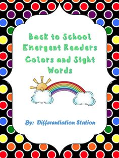 "FREE LANGUAGE ARTS LESSON - ""FREE!  I See Colors:  Emergent Reader, Sight  Words, Colors, Common Core"" - Go to The Best of Teacher Entrepreneurs for this and hundreds of free lessons.  PreK-K   #FreeLesson   #TeachersPayTeachers   #TPT   #LanguageArts  http://www.thebestofteacherentrepreneurs.net/2013/08/free-language-arts-lesson-free-i-see.html"