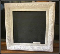 diy chalkboard frame...love it!