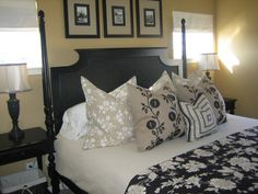 Black & Tan...I think this bedding would look good in our room