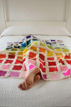 Bear's RainbowBlanket - The Purl Bee