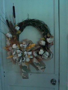 Hunting wreath.                     $65.00