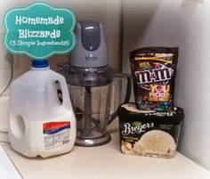 DIY Blizzards: Homemade Goodness! Such a simple idea - but will keep me alive when our DQ closes for the winter!