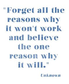 ...believe the one reason it will.