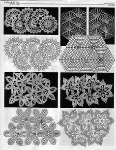 #Crocheted #motifs, mats, etc.   #stitches and patterns  #afs 22/5/13