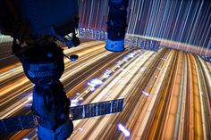 Long-exposure images from the International Space Station.