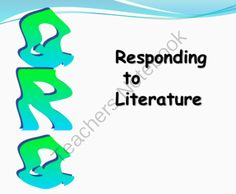 QRQ: Responding to Literature from TyraTeaching on TeachersNotebook.com -  (8 pages)  - PowerPoint presentation; great for students who are beginners at literary analysis