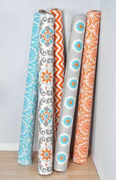 Fabrics of all kinds - fleece, felt, terry cloth, vinyl, cotton, etc