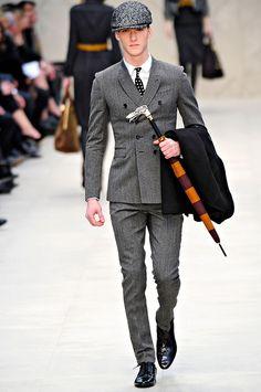 fashion weeks, runway fashion, burberry, style, guy fashion, umbrella, men fashion, suit, london fashion
