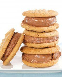 Peanut-Butter and Chocolate-Ice-Cream Sandwich Cookies Recipe