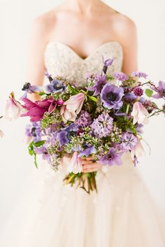 a purple bouquet