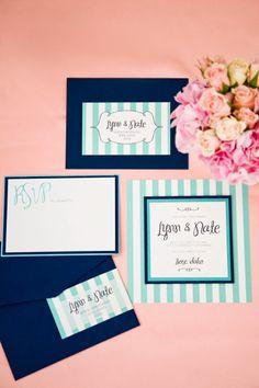 Pretty invitation suite