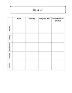 Daily School Agenda Template – My Blog