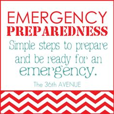 Simple steps to prepare and be ready for an emergency.