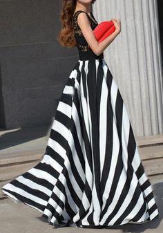 Black Patchwork Lace Sleeveless Maxi Dress